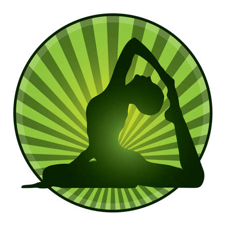 ardha: woman practicing yoga Illustration
