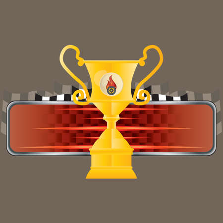race winner: trophy with copy space Illustration