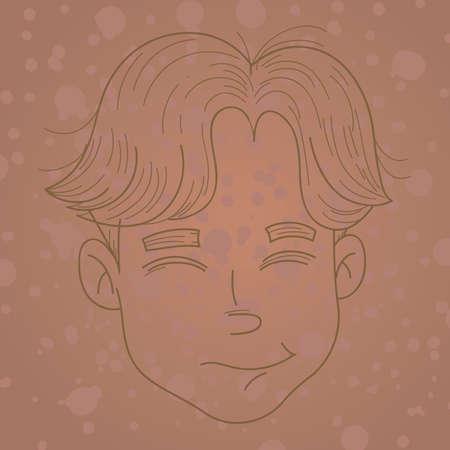 long hair boy: boys hairstyle Illustration