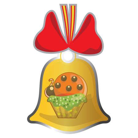 Tasse Kuchen in Klingeltaste