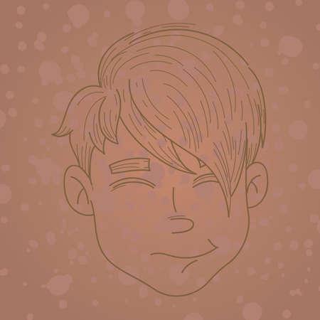 tuft: boys hairstyle Illustration