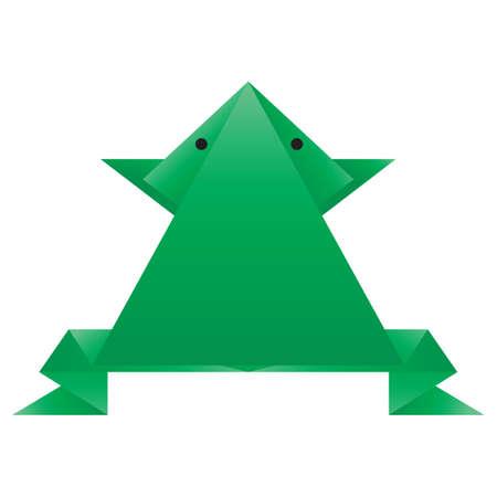amphibian: frog origami Illustration