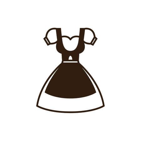 costume bavarois Vecteurs