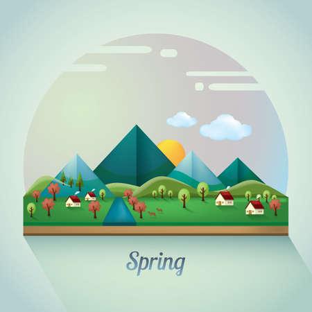 spring: spring landscape