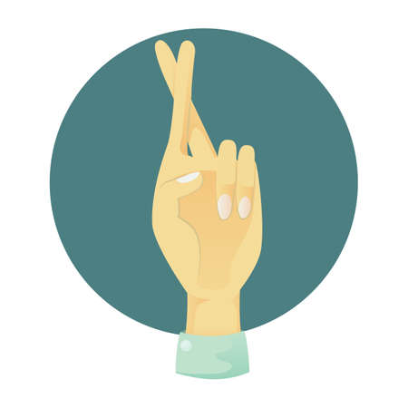 comunicacion no verbal: Mano que muestra los dedos cruzados