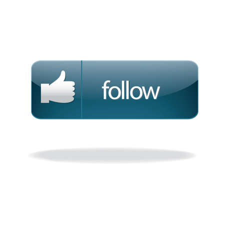 follow: follow button Illustration