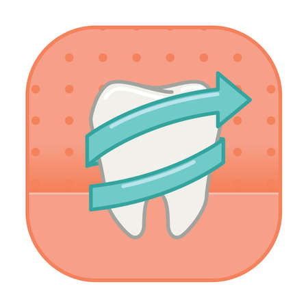 surrounded: tooth surrounded by arrow