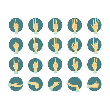 two thumbs up: collection of hand gestures