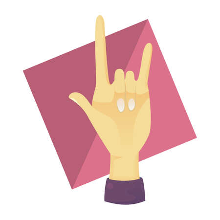 comunicacion no verbal: la mano que muestra el rock-and-roll