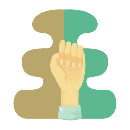 nonverbal communication: hand showing fist Illustration