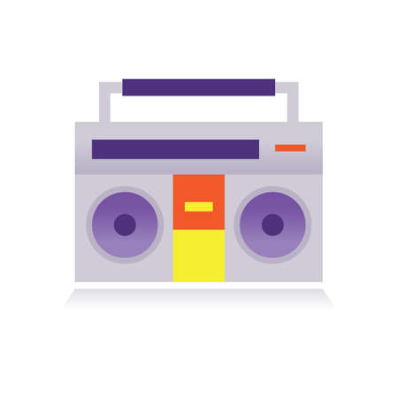 ghetto: ghetto blaster Illustration