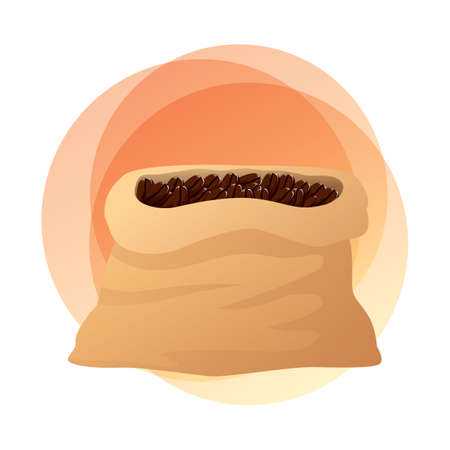 coffee beans: bag of coffee beans