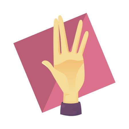 comunicacion no verbal: gesto con la mano  Vectores