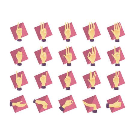 comunicacion no verbal: colecci�n de gestos de las manos