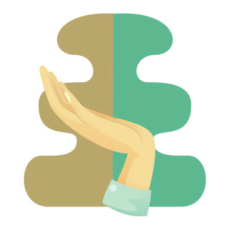 nonverbal: open palm hand gesture Illustration