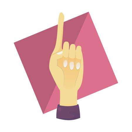 one finger: hand showing one finger