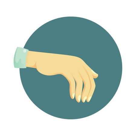 nonverbal: palm downwards