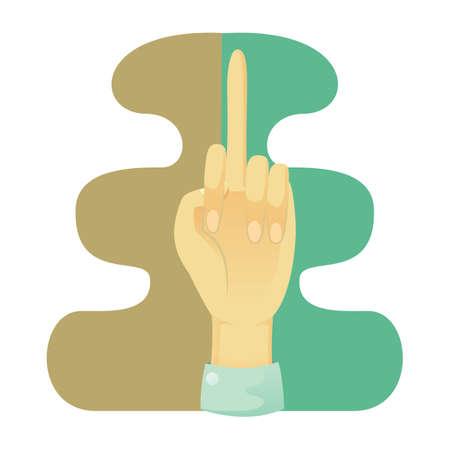 comunicacion no verbal: muestra el dedo medio mano