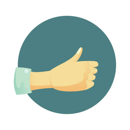 showing: hand showing thumbs up sign