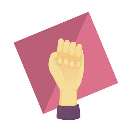 nonverbal: hand showing fist Illustration