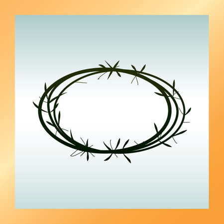 crown of thorns: crown of thorns Illustration