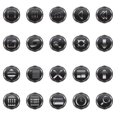 web: web button set Illustration