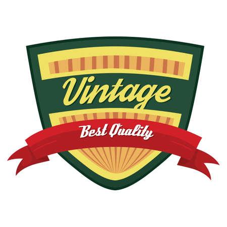 the best: vintage best quality label Illustration