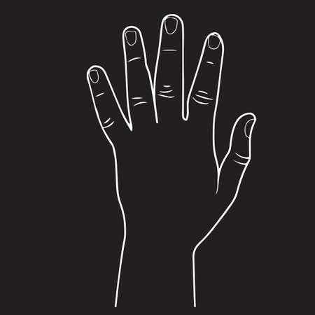 left hand: left hand Illustration