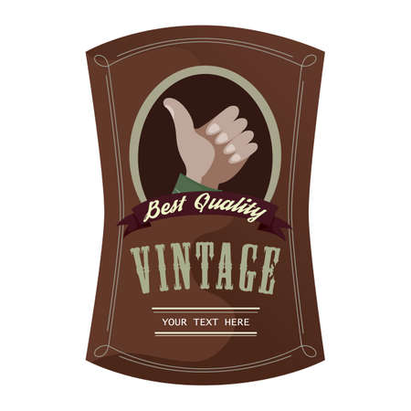 best quality: vintage best quality label Illustration