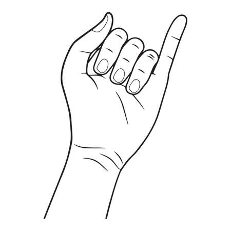 little finger: left hand Illustration