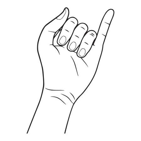 left: left hand Illustration