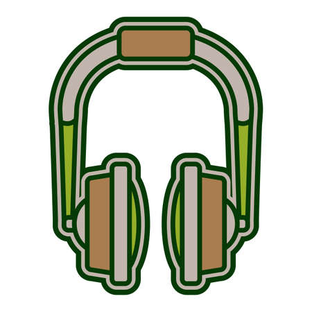 head phones: head phones Illustration