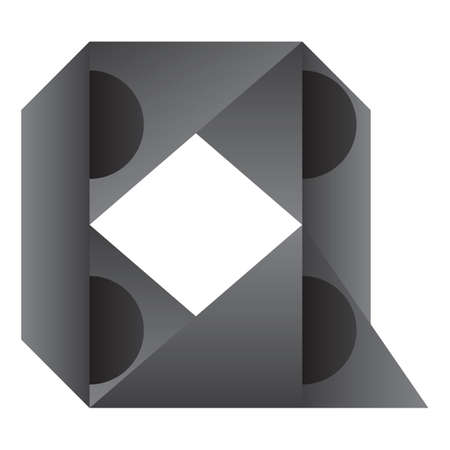q: abstract design of alphabet q