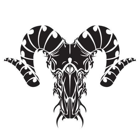 bocinas: cuernos de toro tatuaje
