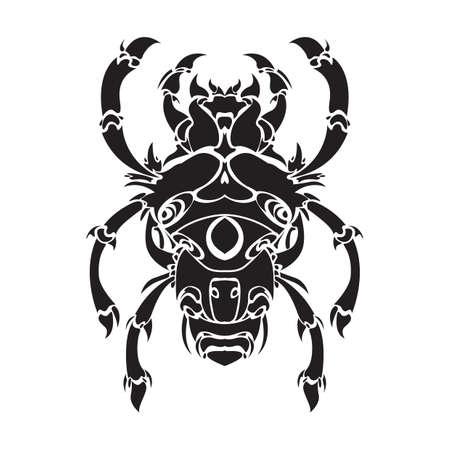 animal leg: bug tattoo Illustration