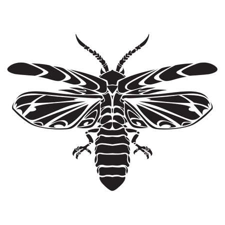 avispa: tatuaje de la avispa Vectores
