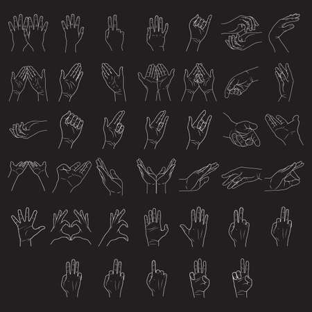 outstretched hand: hand gestures