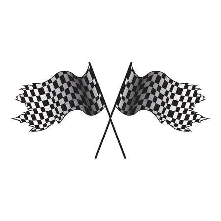 checker: race flags Illustration