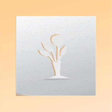 paper cutout: paper cutout flower