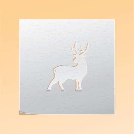 paper cutout: paper cutout deer
