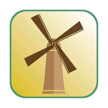 mills: windmill Illustration