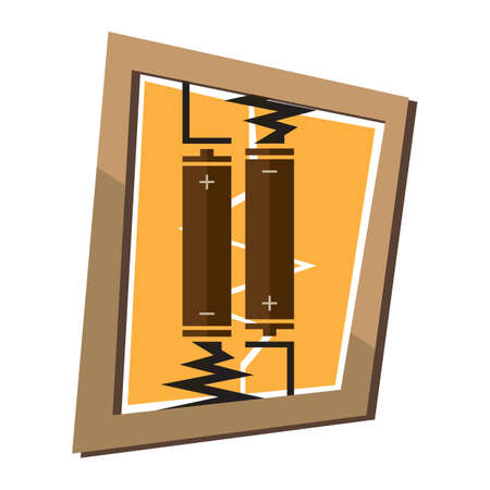 negativity: batteries in wall frame Illustration
