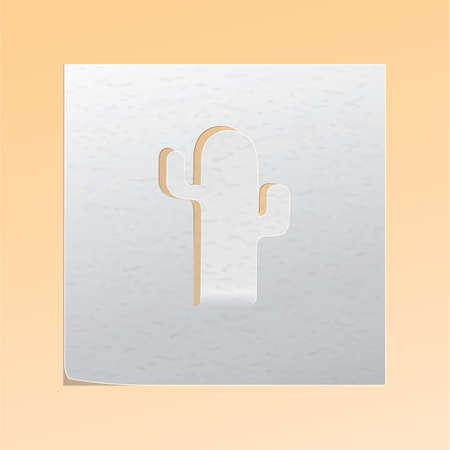paper cutout: paper cutout cactus