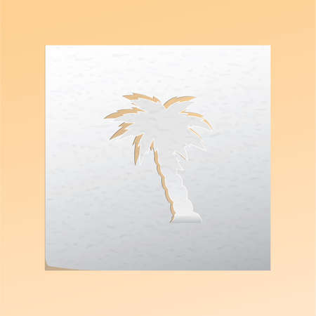 cutout: paper cutout palm tree