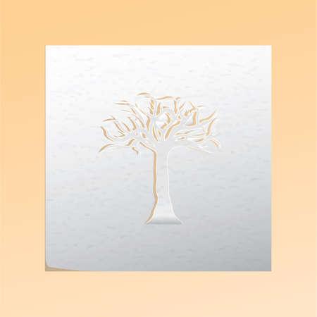 cutout: paper cutout tree