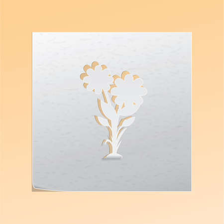 outs: paper cutout flower