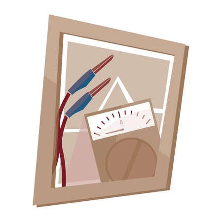 meter: testing meter wall frame Illustration