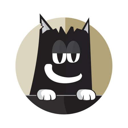 bored: bored kitten Illustration