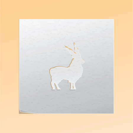 cutout: paper cutout blackbuck