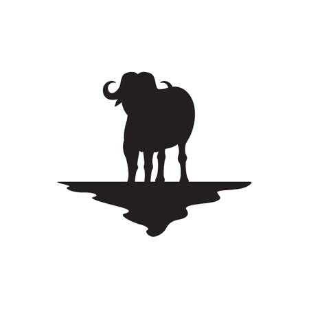 zoological: buffalo silhouette